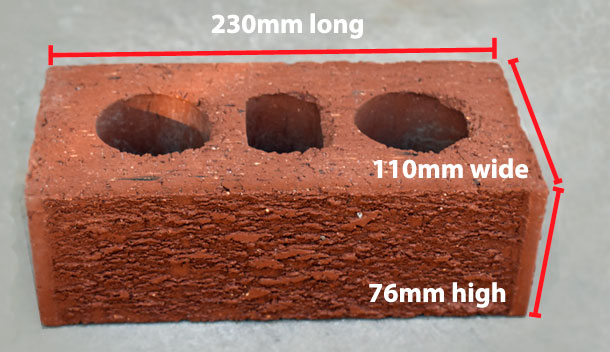 australian brick sizes